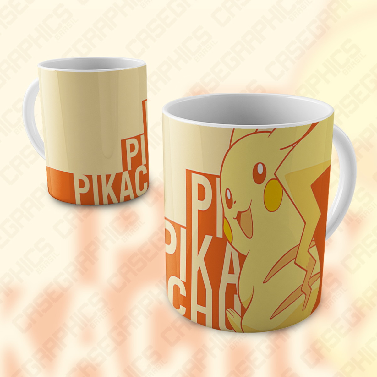 Caneca Pikachu Pokemon Fofo Porcelana Presente Cartoon No Elo7