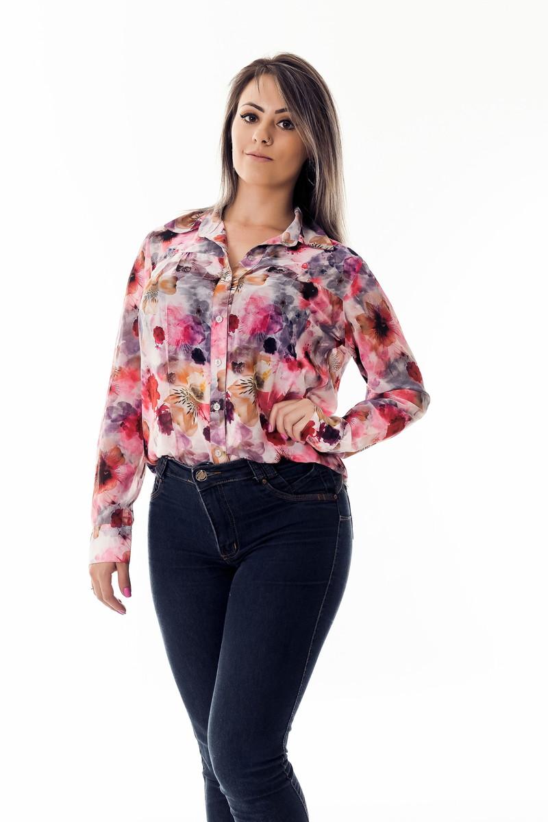 Camisa Feminina Floral Fiorenza - Piment no Elo7  c10368ef270ae