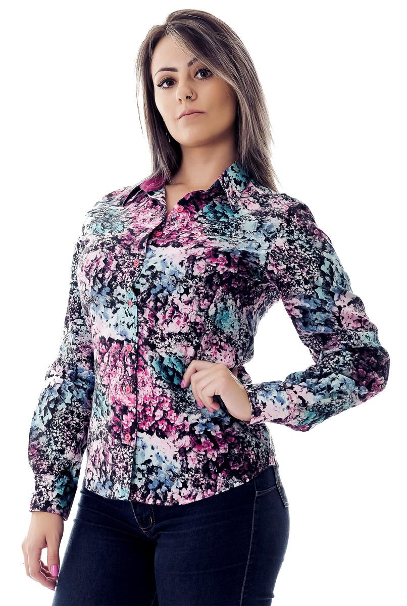 f2e66d2aa0 Camisa Feminina Beatrice Pimenta Rosada no Elo7