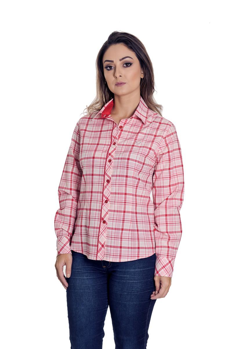 7274de6650 Camisa Social Xadrez Feminina Beatriz - Pimenta Rosada no Elo7 ...