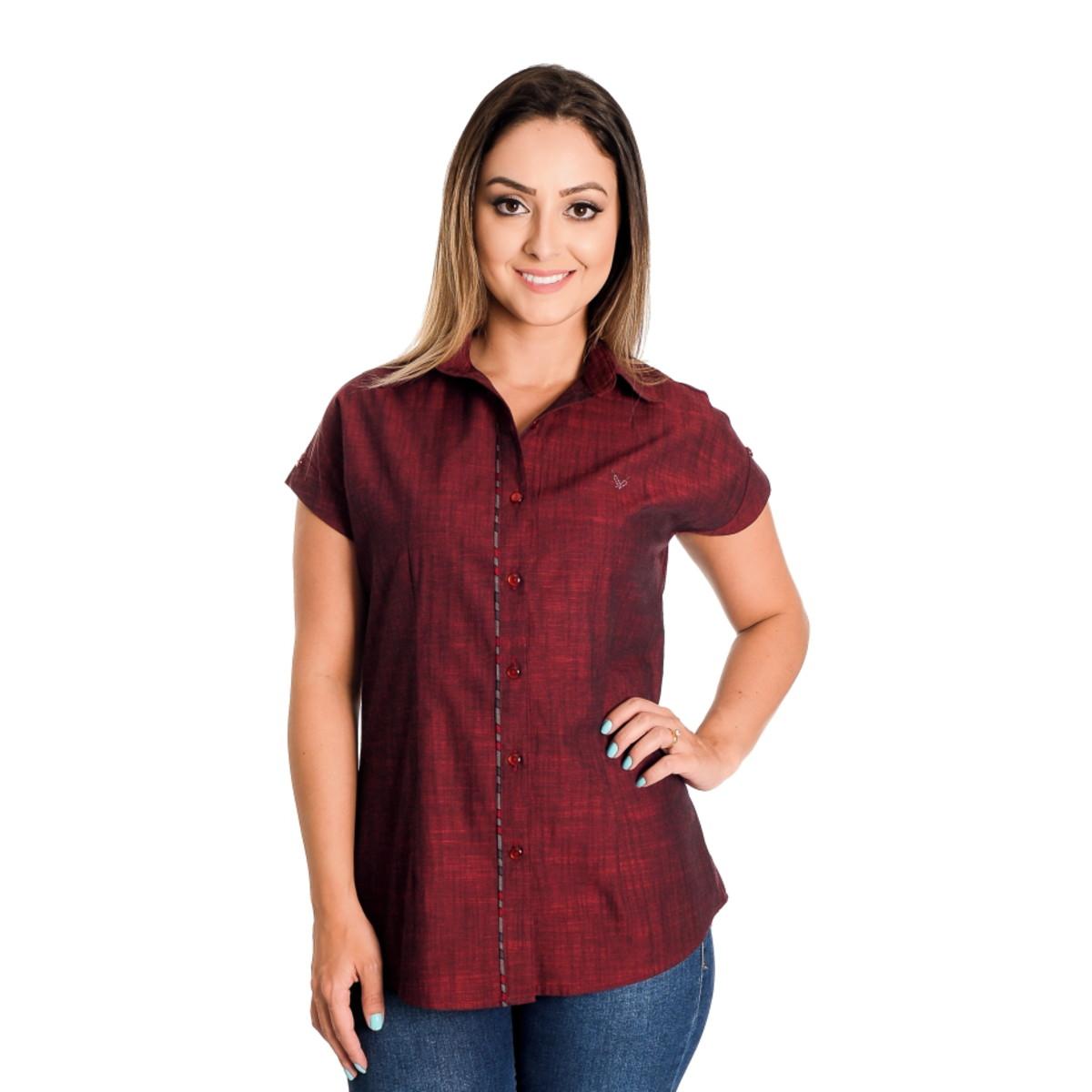 Camisa Feminina Alicia - Pimenta Rosada no Elo7  db530b931bf13