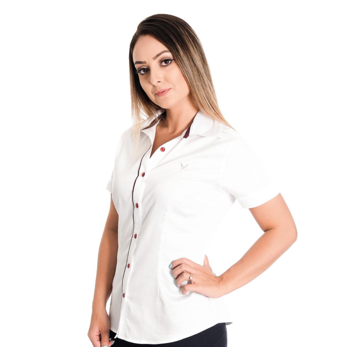 003904ac74 Camisa Feminina Beatriz - Pimenta Rosada FIO EGÍPCIO no Elo7 ...