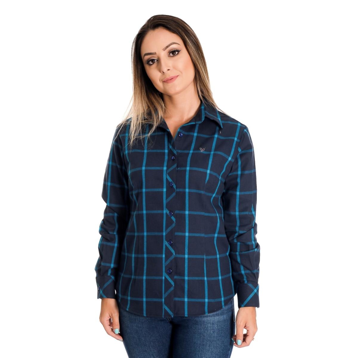 079d18a18 Camisa Feminina Xadrez Giullia - Pimenta Rosada no Elo7 | Pimenta ...