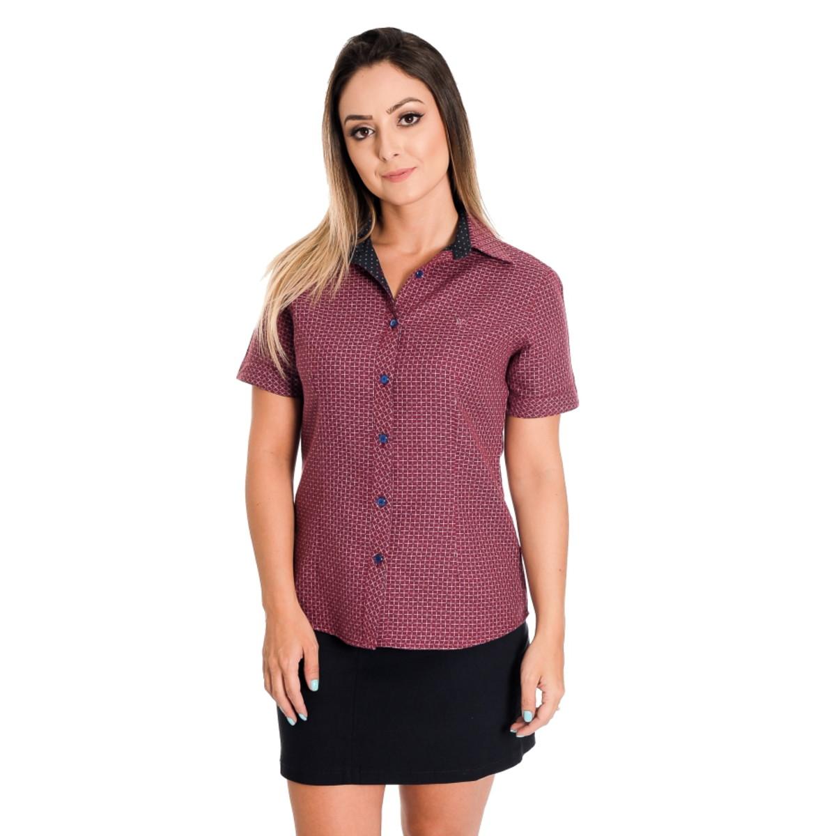 9d4858f5fb Camisa Feminina Jennifer - Pimenta Rosada FIO EGÍPCIO no Elo7 ...