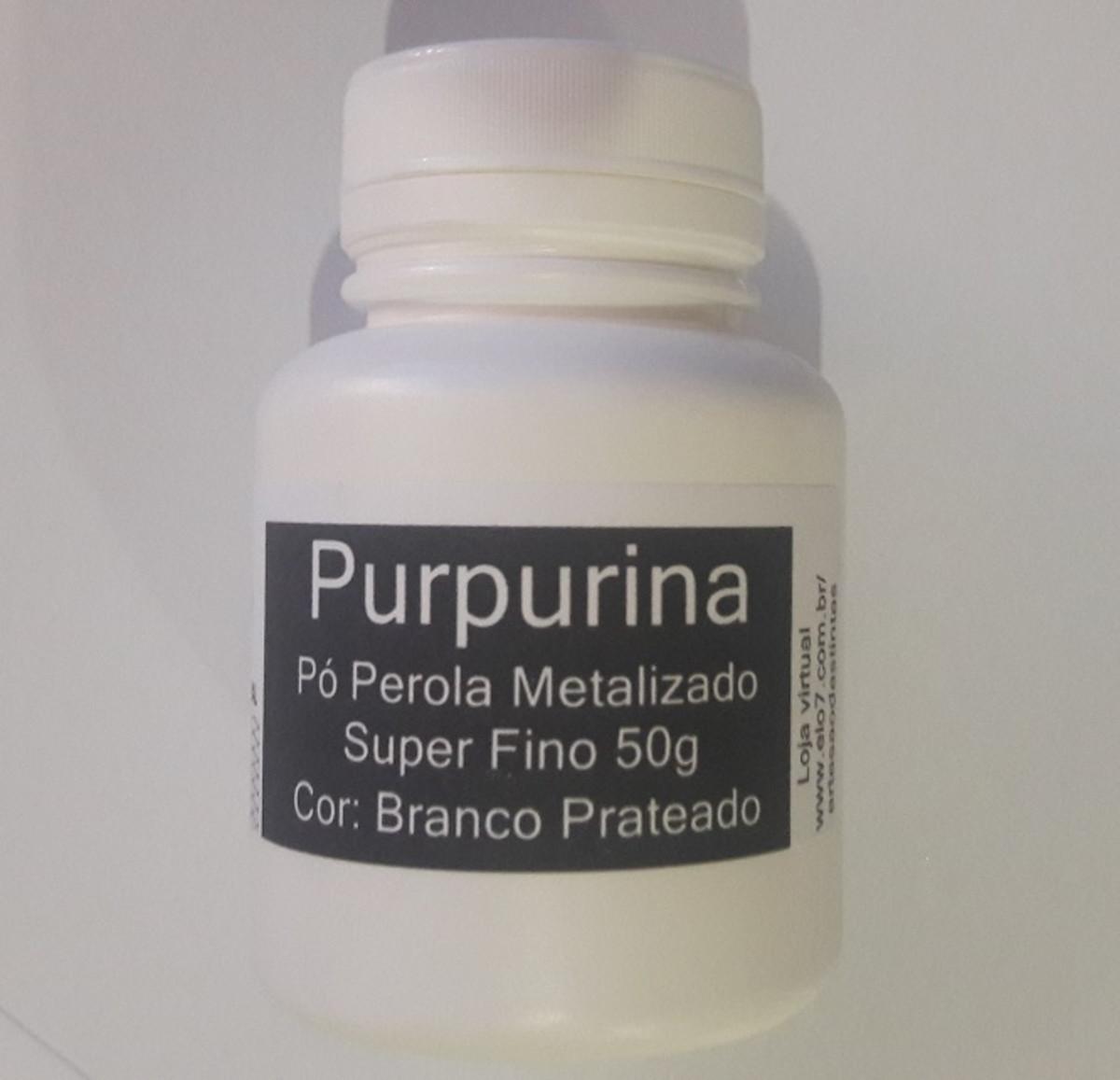 804f6b03089 Purpurina Em Pó Brilho Metalizado 50g - Cor  Branco Prateado no Elo7 ...
