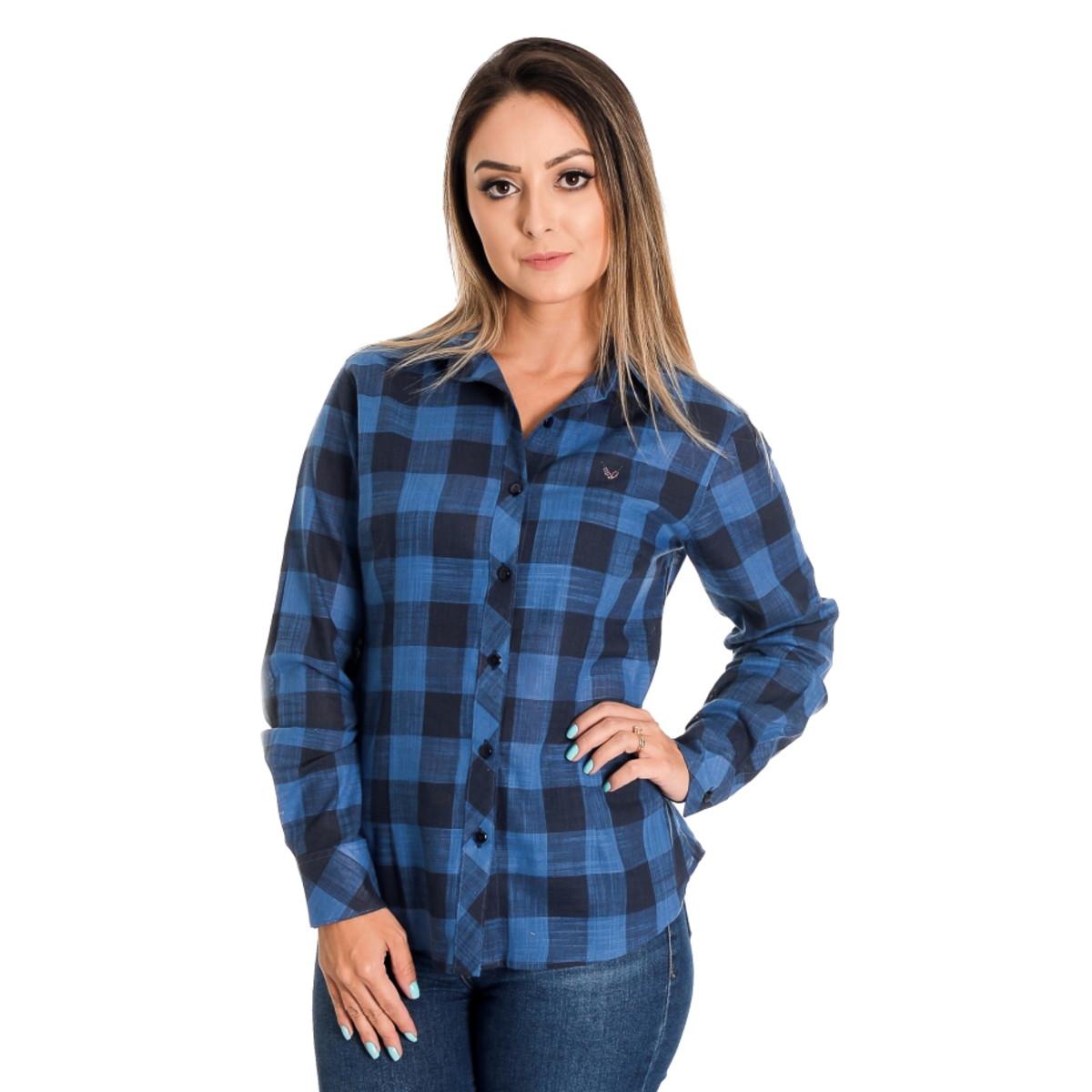 cc8932d30 Camisa Feminina Xadrez Kyara - Pimenta Rosada no Elo7 | Pimenta ...