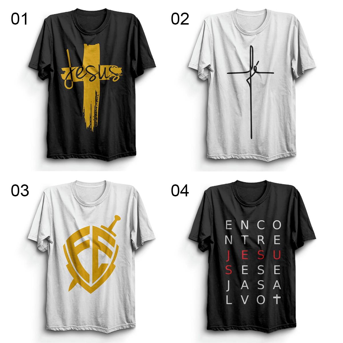 df4c8934d Kit 3 Camisetas Religiosas gospel evangélica Escudo Da Fé no Elo7 ...