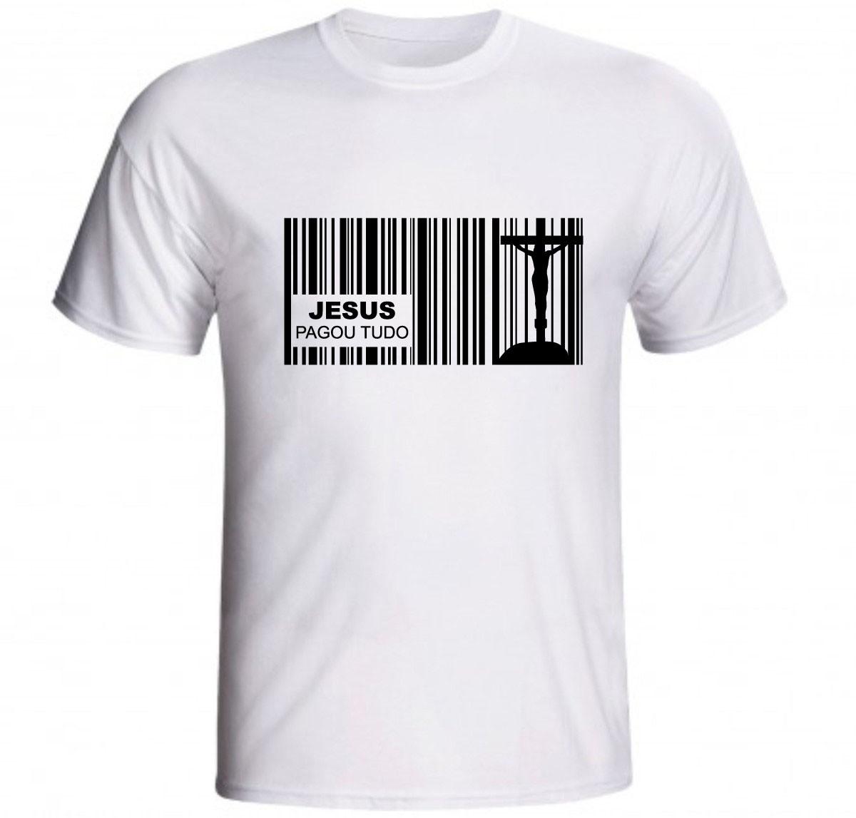 270e42fc7 Camiseta Jesus Pagou Tudo Boleto Dívida Amor Cruz Cristo no Elo7 ...