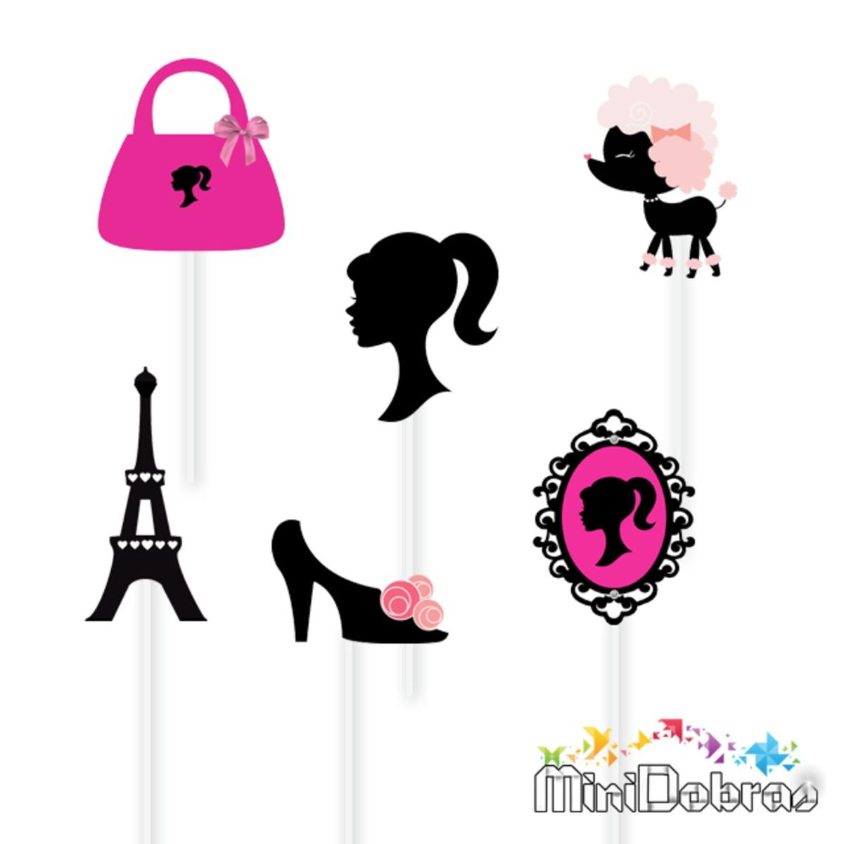 Tag No Palito Para Docinhos Barbie Paris No Elo7 Minidobras