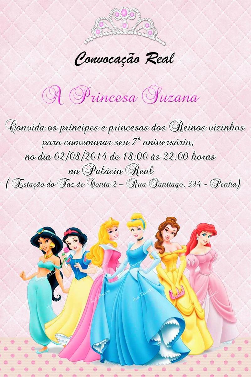 Convite Digital Princesas Disney No Elo7 Loja Criativa Presentes