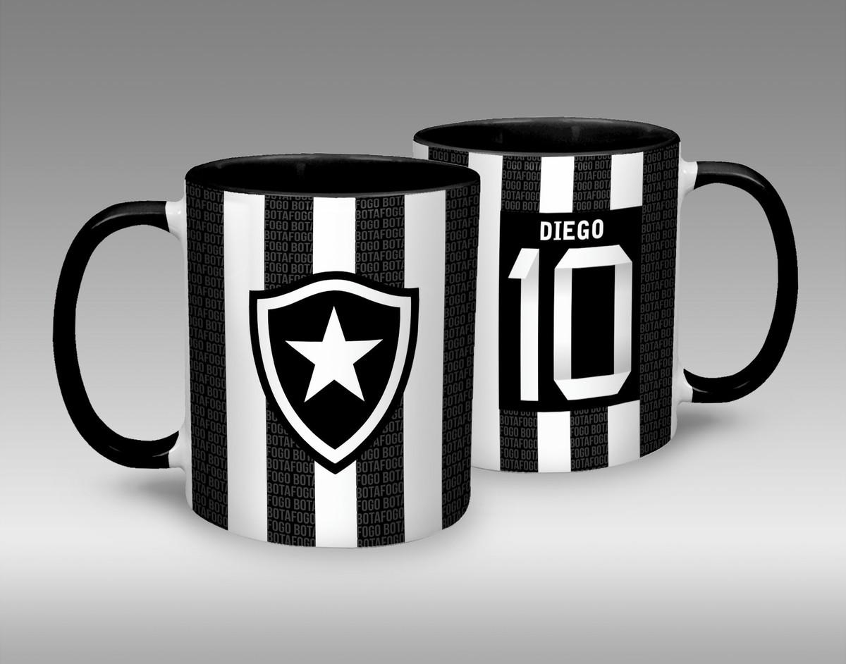 Caneca Porcelana Botafogo - preta no Elo7  14cd7000266