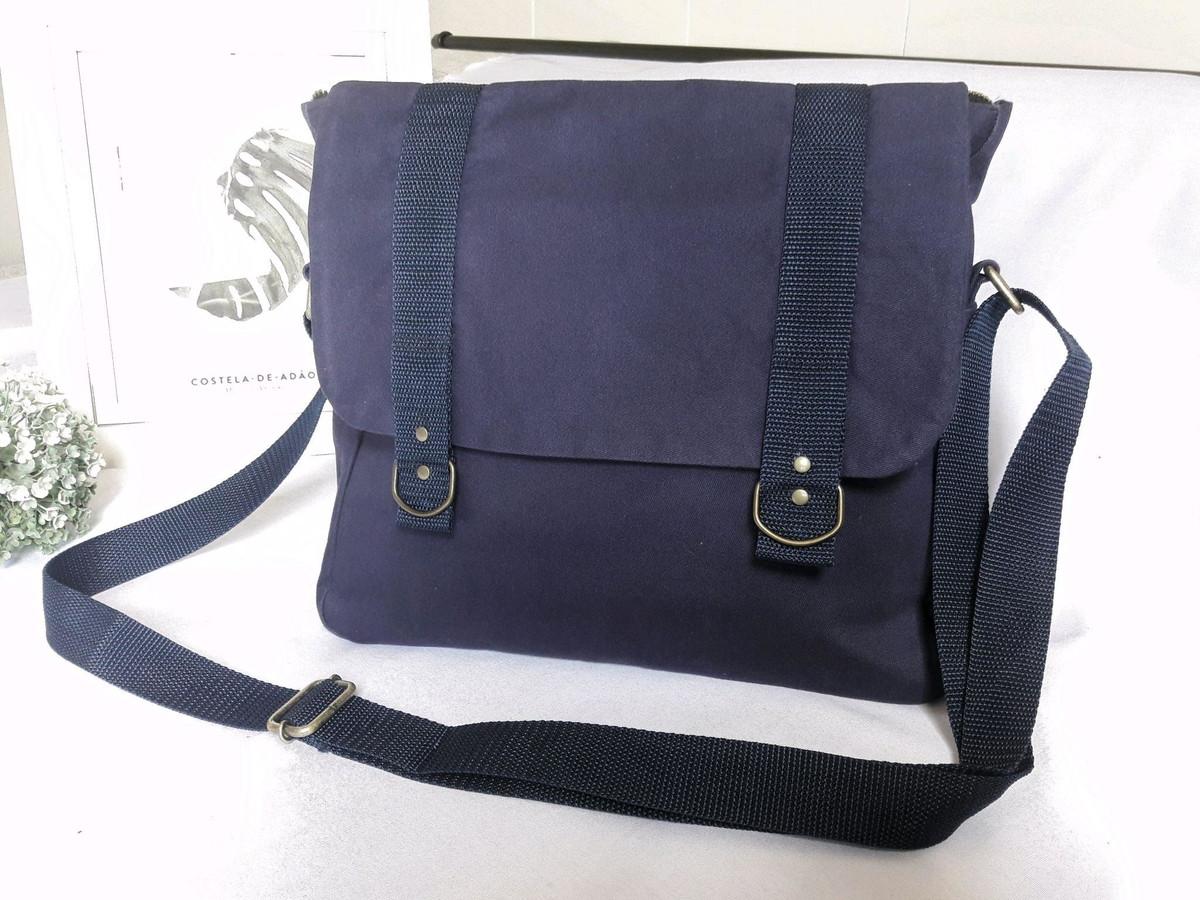 df1ea5b35c Bolsa Carteiro Azul Marinho no Elo7
