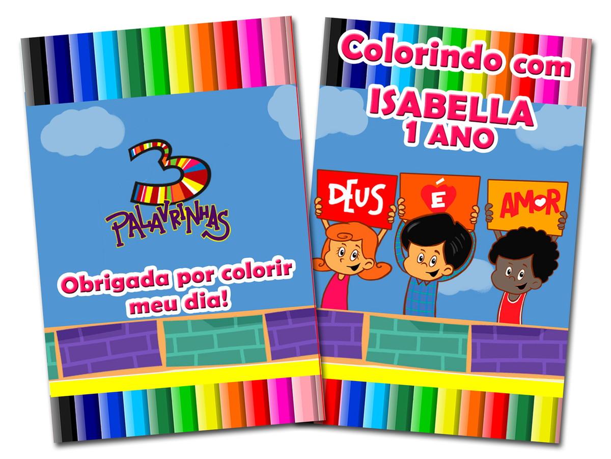 Revista Colorir 3 Palavrinhas 14x10 No Elo7 Tudo De Festa Galvao