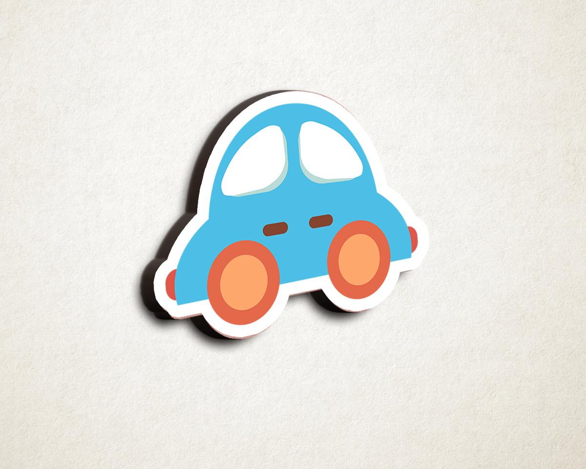 a28fb6e8d268f Aplique placa quadro - MDF e impressão - transporte carro no Elo7 ...