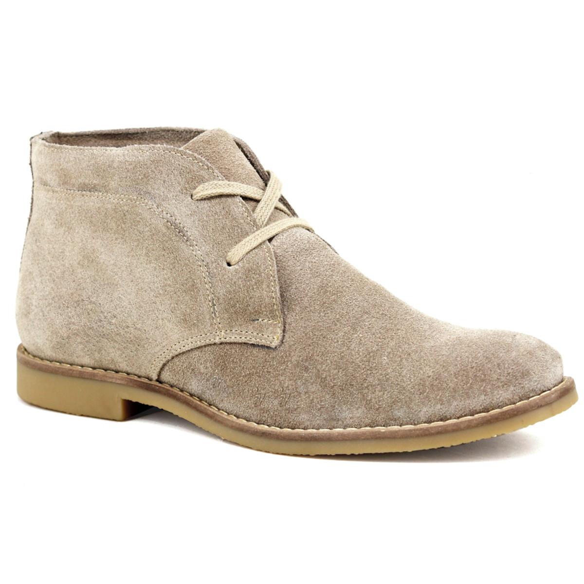 05c2918363 Botina Luxury Desert Boots ESCRETE Em Couro Camurça 503 no Elo7 ...