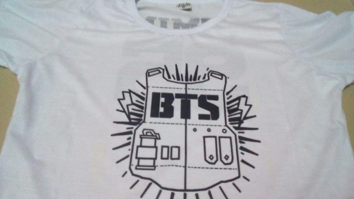 Promoção Camiseta BTS K-Pop Personalizada no Elo7  d0f313b7c9c