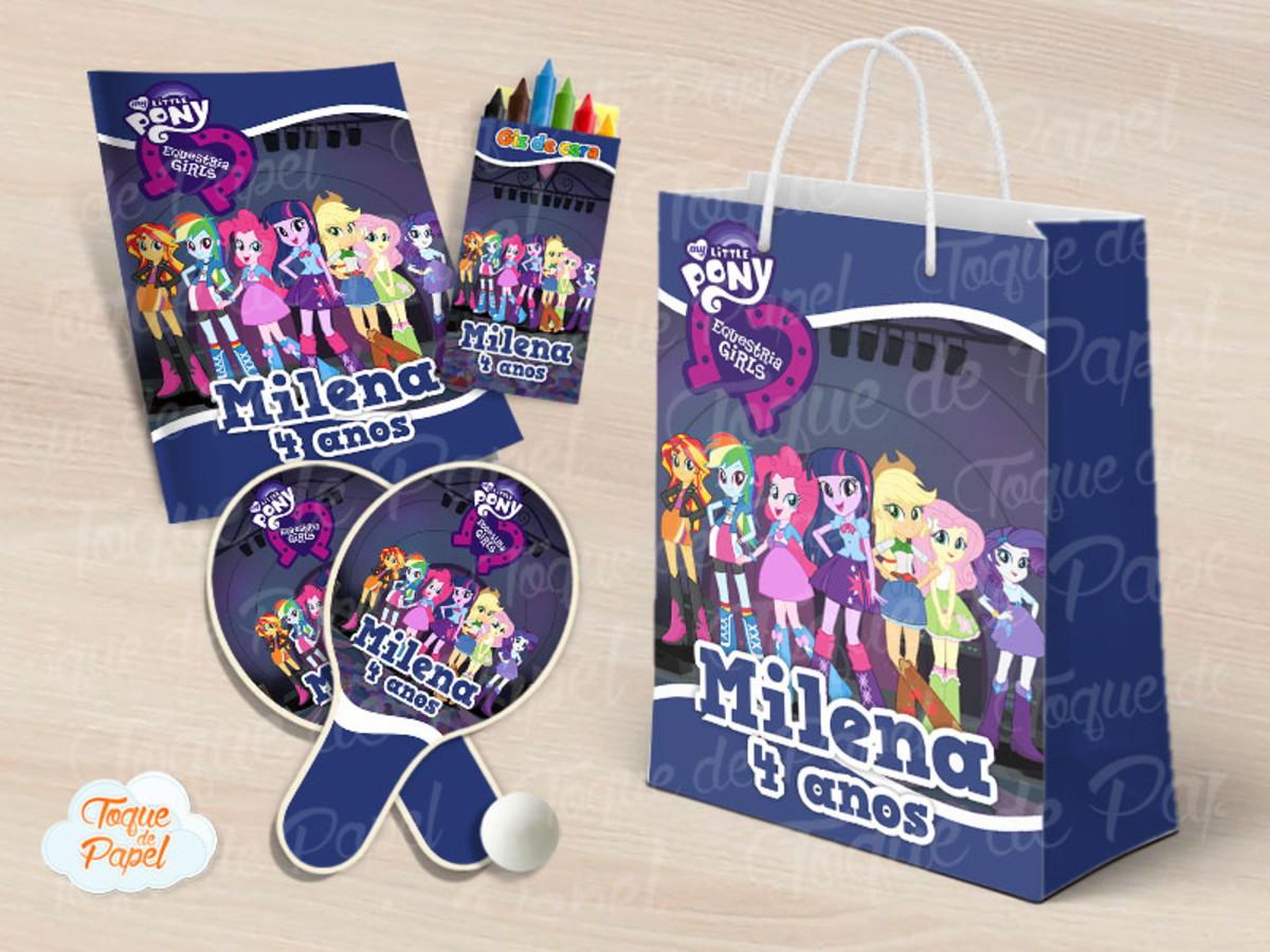 Kit Ping Pong Kit Colorir Equestria Girls No Elo7 Toque De