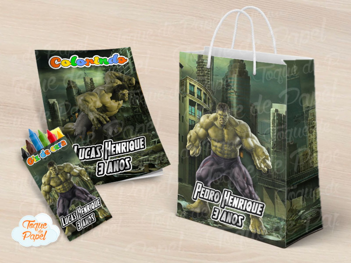 Livrinho Colorir Hulk No Elo7 Toque De Papel C560ee