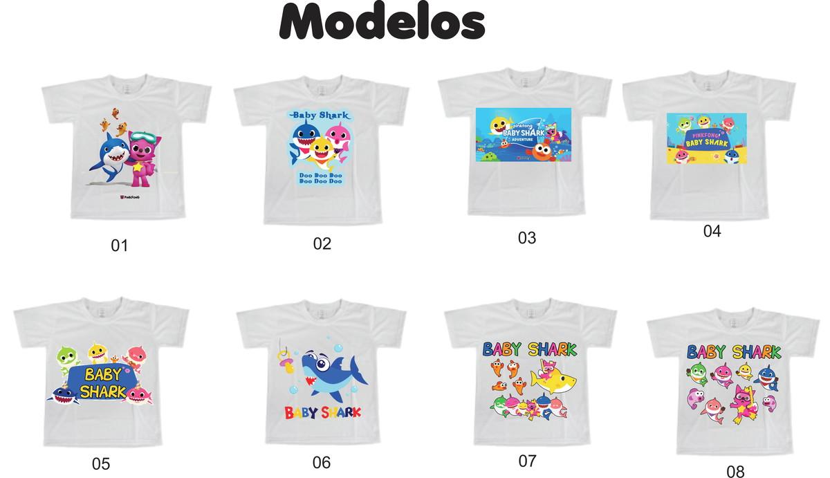 Camiseta Infantil ou Adulto Baby Shark - Diversos modelos no Elo7 ... 6f34aed6341