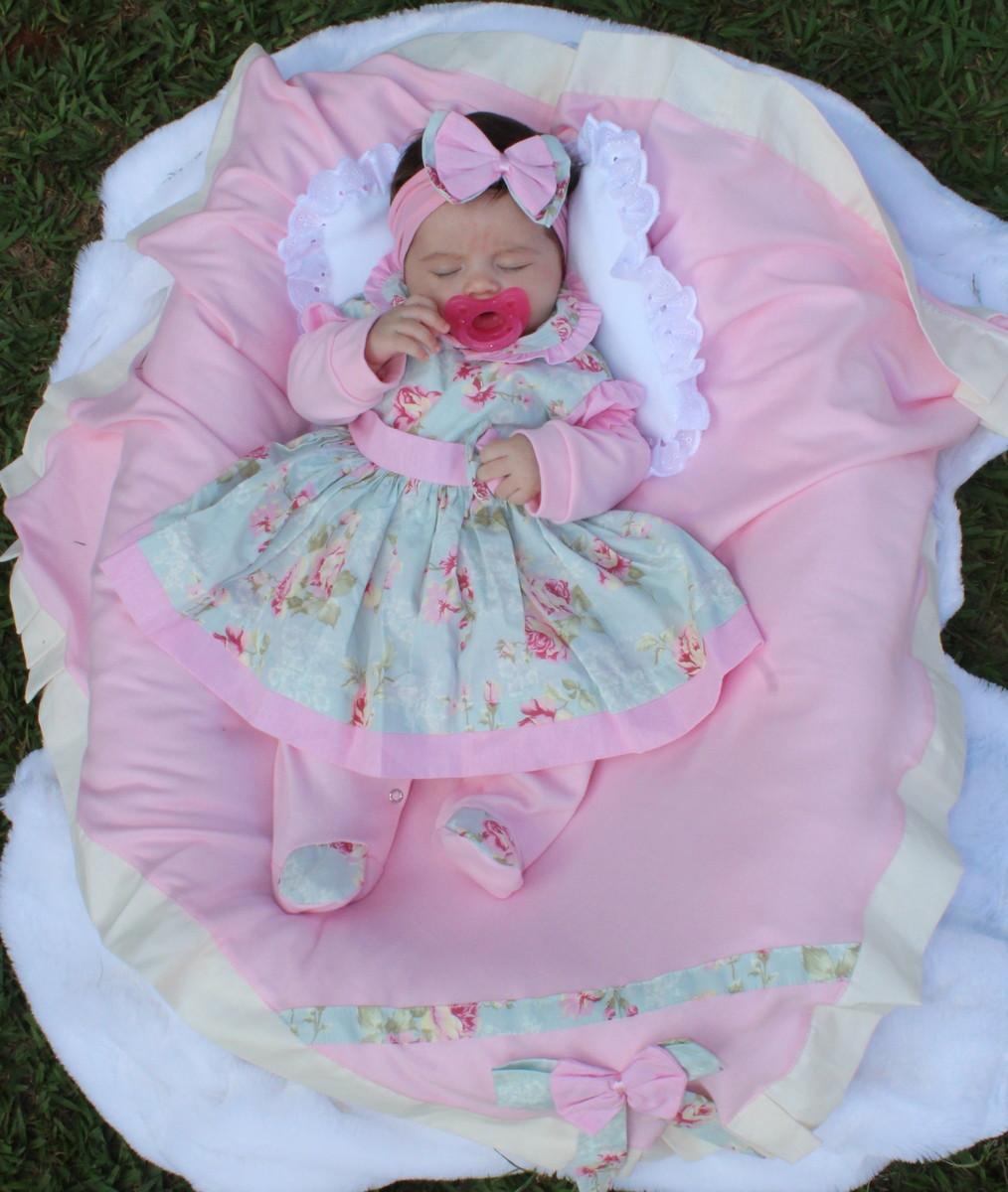 Saída Maternidade Menina Charmosa 5 peças Esmeralda Cor 2 no Elo7 ... 872315d3997