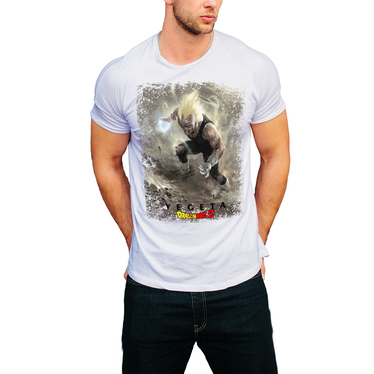 6f3a14691 Camiseta Dragon Ball Z Desenho Vegeta Anime Camisa Masculina no Elo7 ...