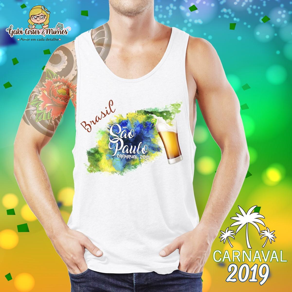 d77fac8a16b6d Camiseta Regata Carnaval São Paulo no Elo7