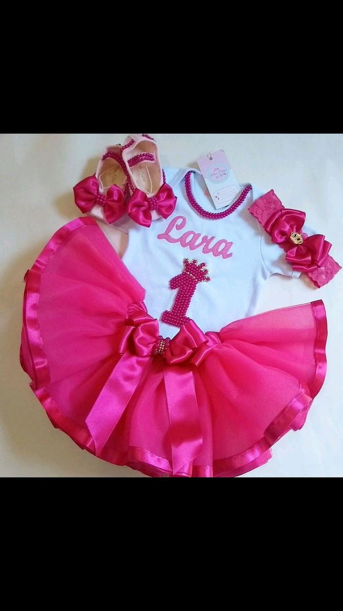 db3ccbf057 Fantasia Infantil Tutu Princesa Bailarina Pink 1 ano Smash no Elo7 ...