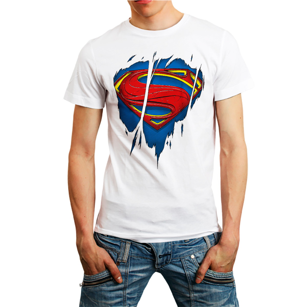 c47a8b6ec Camiseta Superman Marvel HQ Camisa Masculina Branca no Elo7