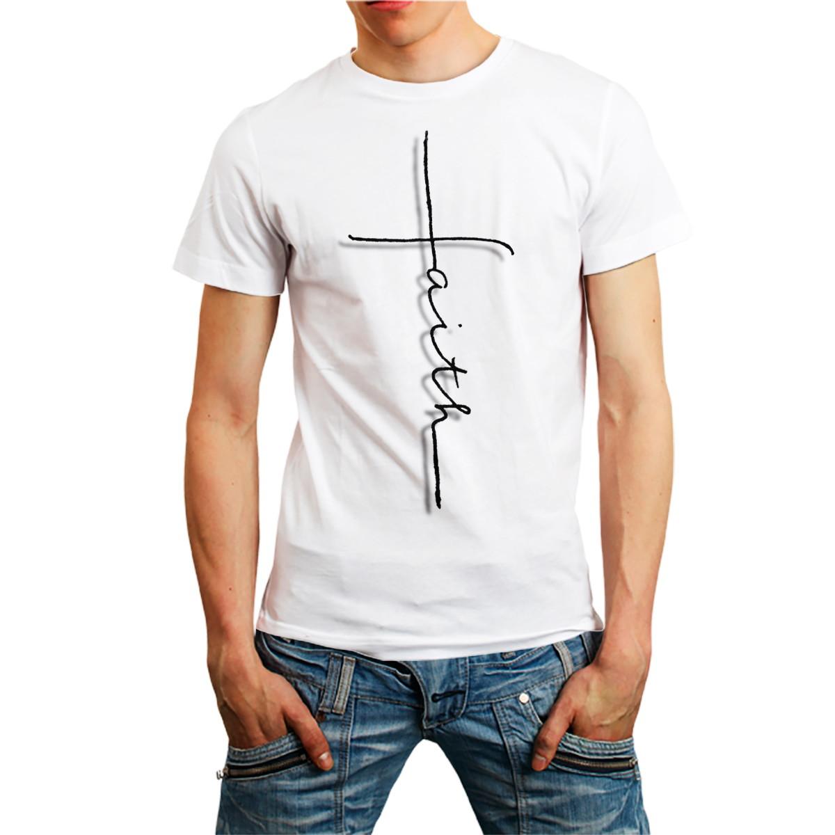 Camiseta Fé Faith Camisa Evangélica católica T-shirt Branca no Elo7 ... 539d8074bb3