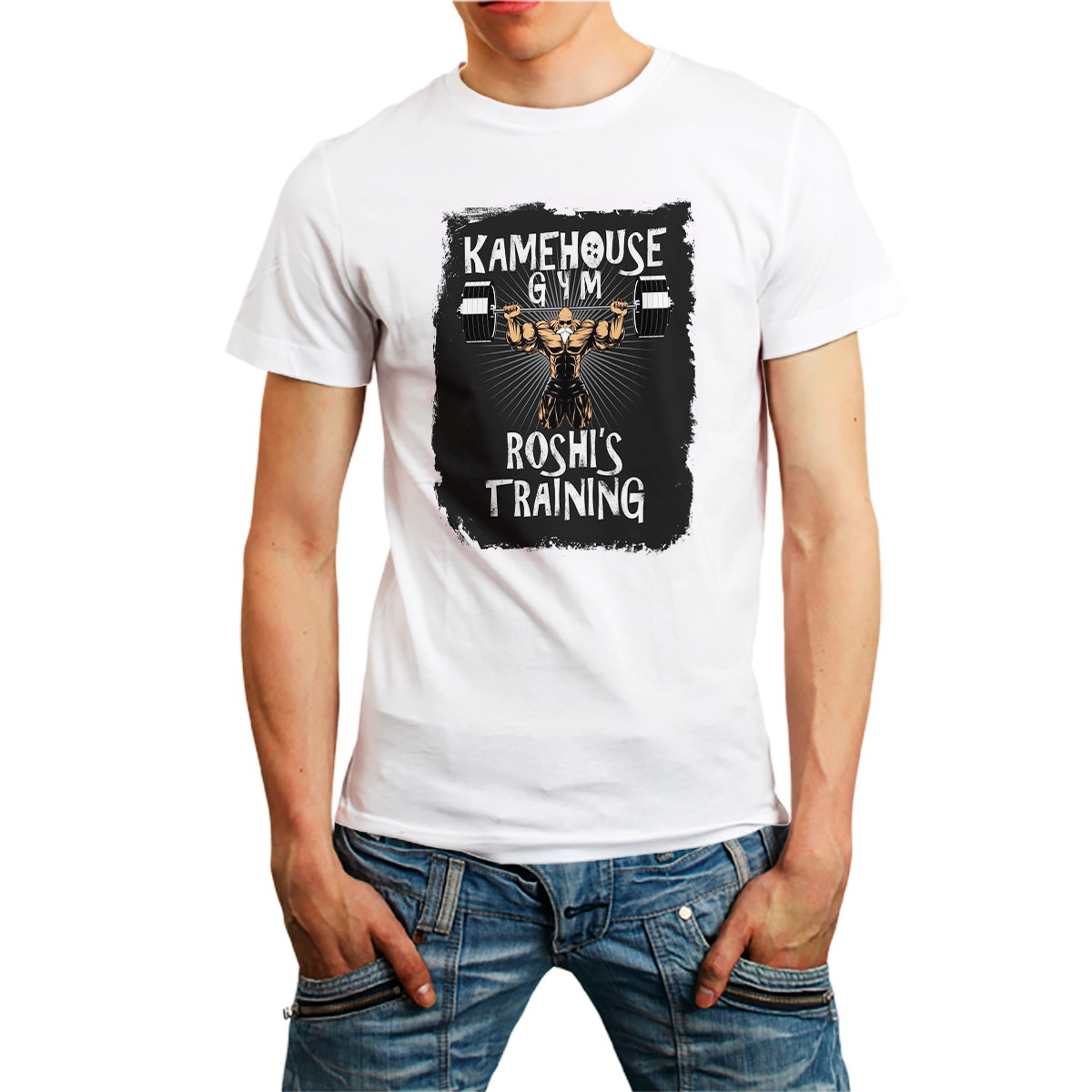 d7002a795c794 Camiseta Academia Fitness Roupa Camisa Masculina Branca no Elo7 ...