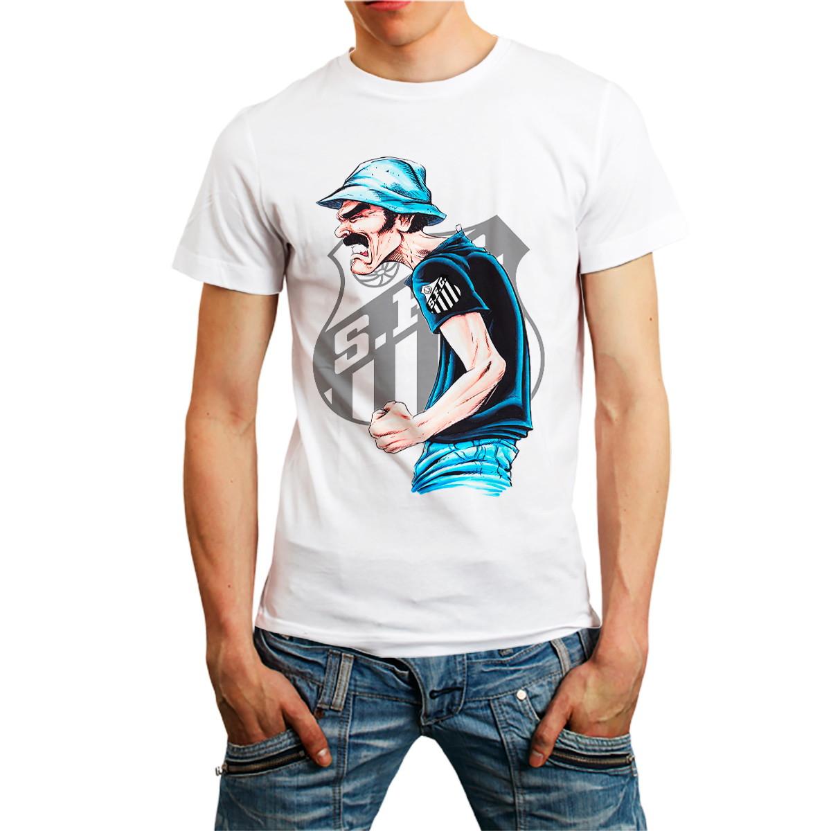 557752a85a Camiseta Seu Madruga Camisa Futebol Time Brasileiro Branca no Elo7 ...