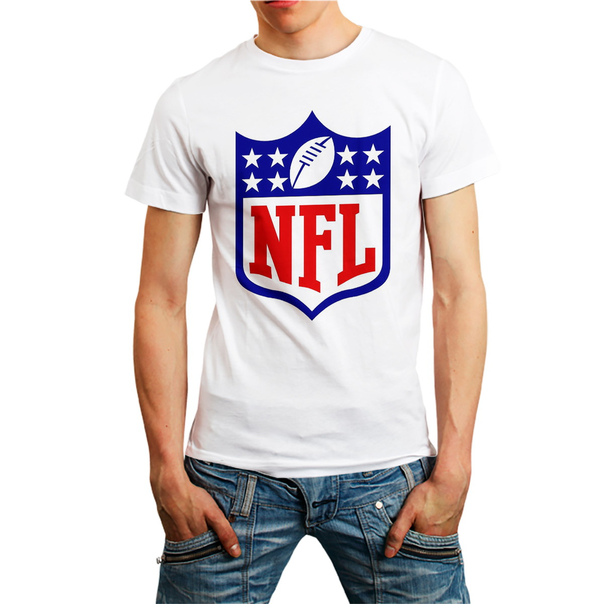 58281c59bc Camiseta NFL Camisa Futebol Americano Roupa homem Branca no Elo7 ...