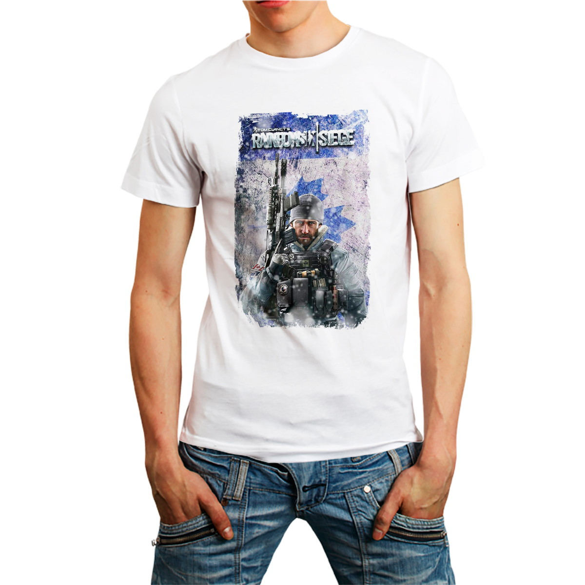 3aa5a01ff Camiseta Buck Rainbow Six Siege 6 Camisa RB6 Games Branca no Elo7 ...