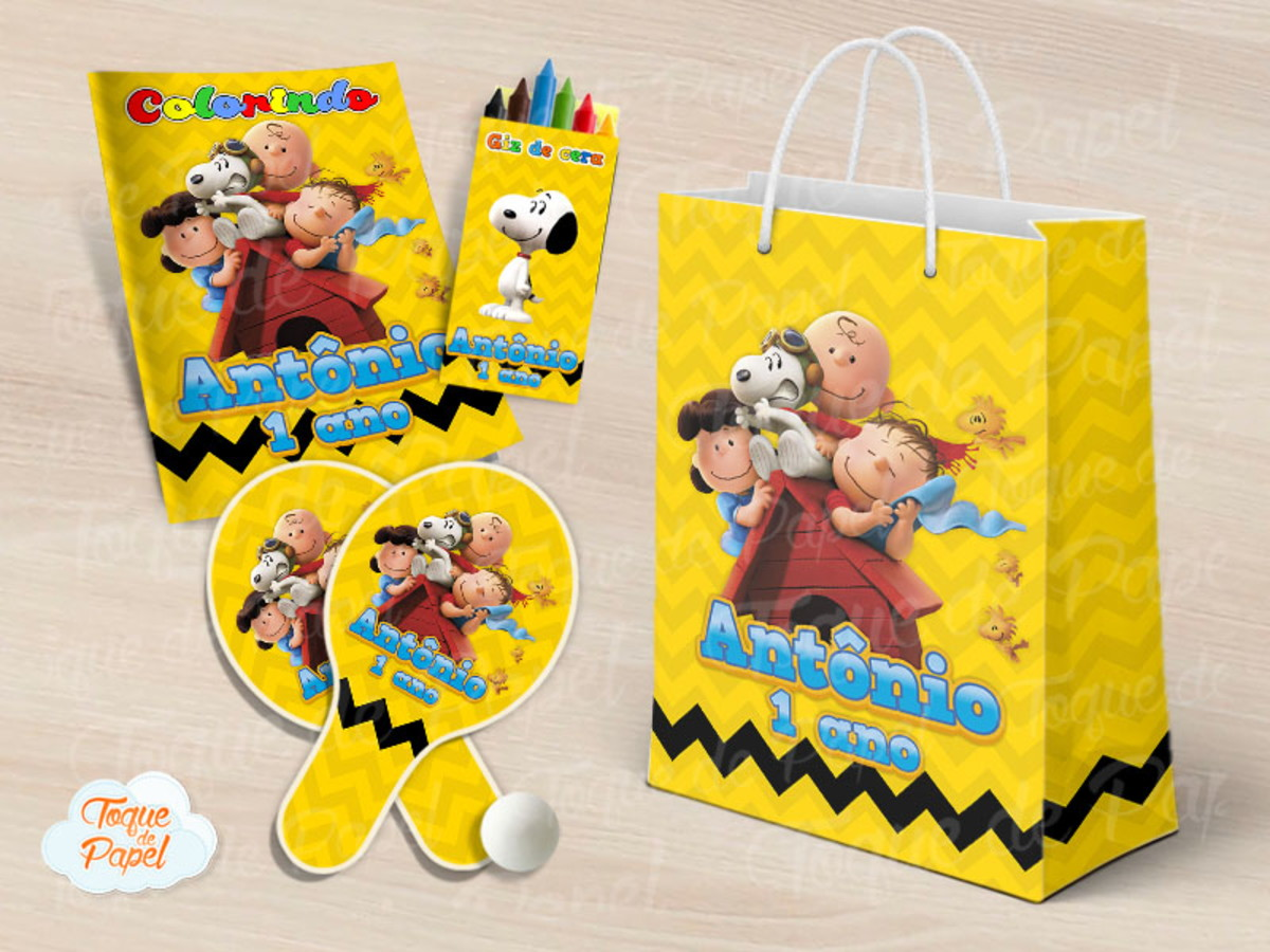 Kit Ping Pong Kit Colorir Snoopy Charlie Brown No Elo7 Toque