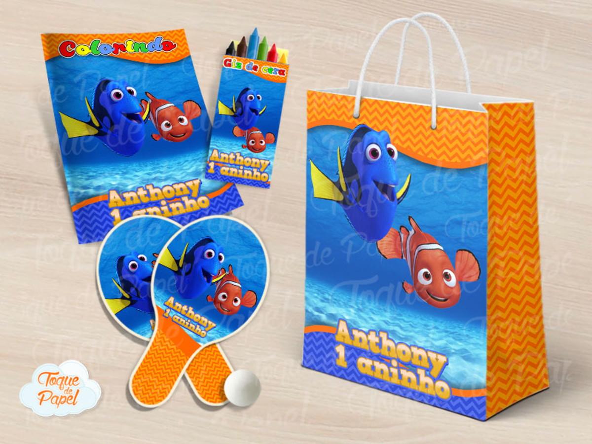Kit Ping Pong Kit Colorir Procurando Dory Nemo No Elo7 Toque