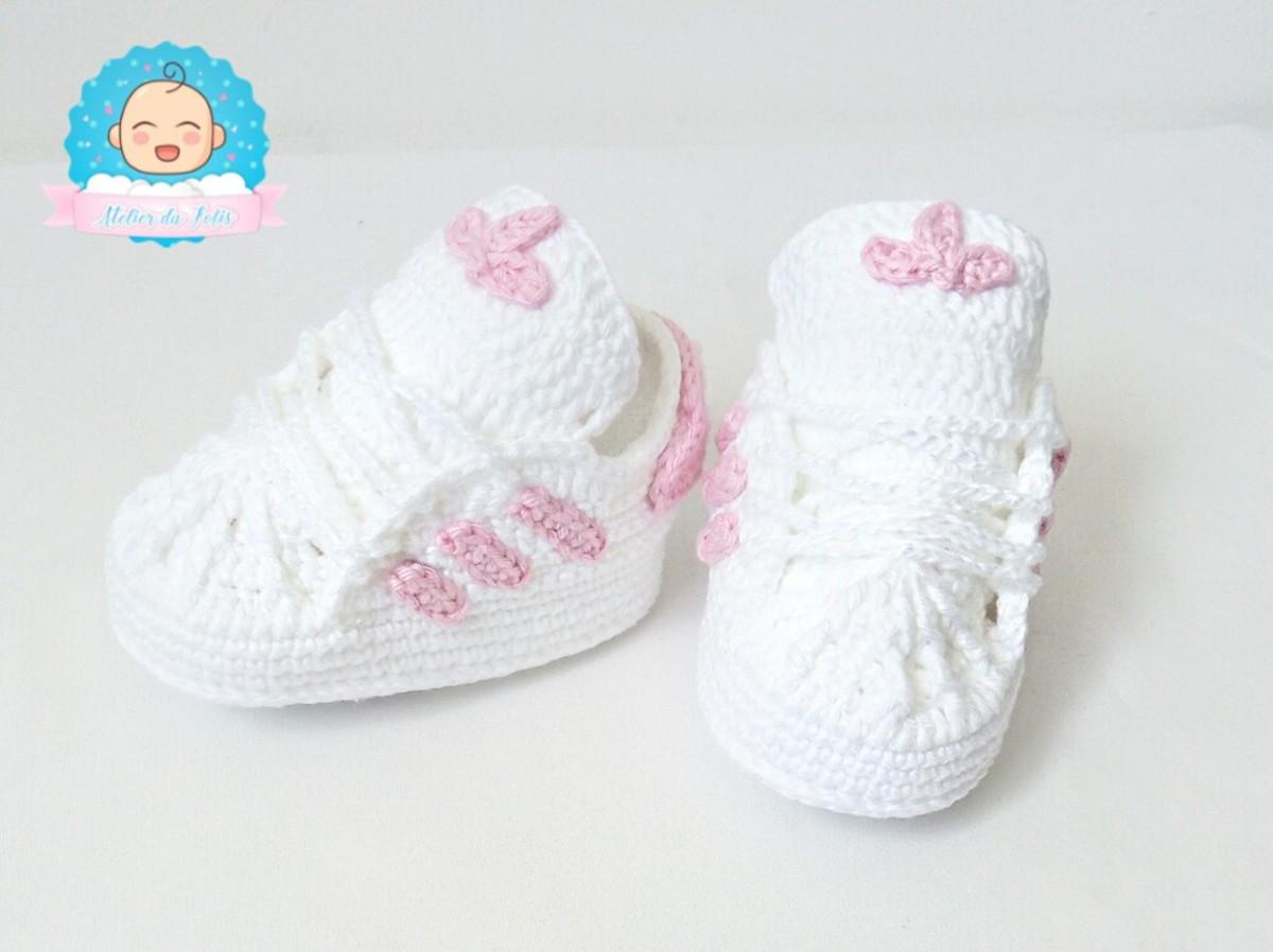 ae4938bcb21 Zoom · Adidas rosa tenis-para-bebe-rosa-recem-nascido