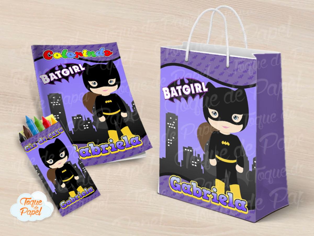 Kit Colorir Batgirl No Elo7 Toque De Papel A81884