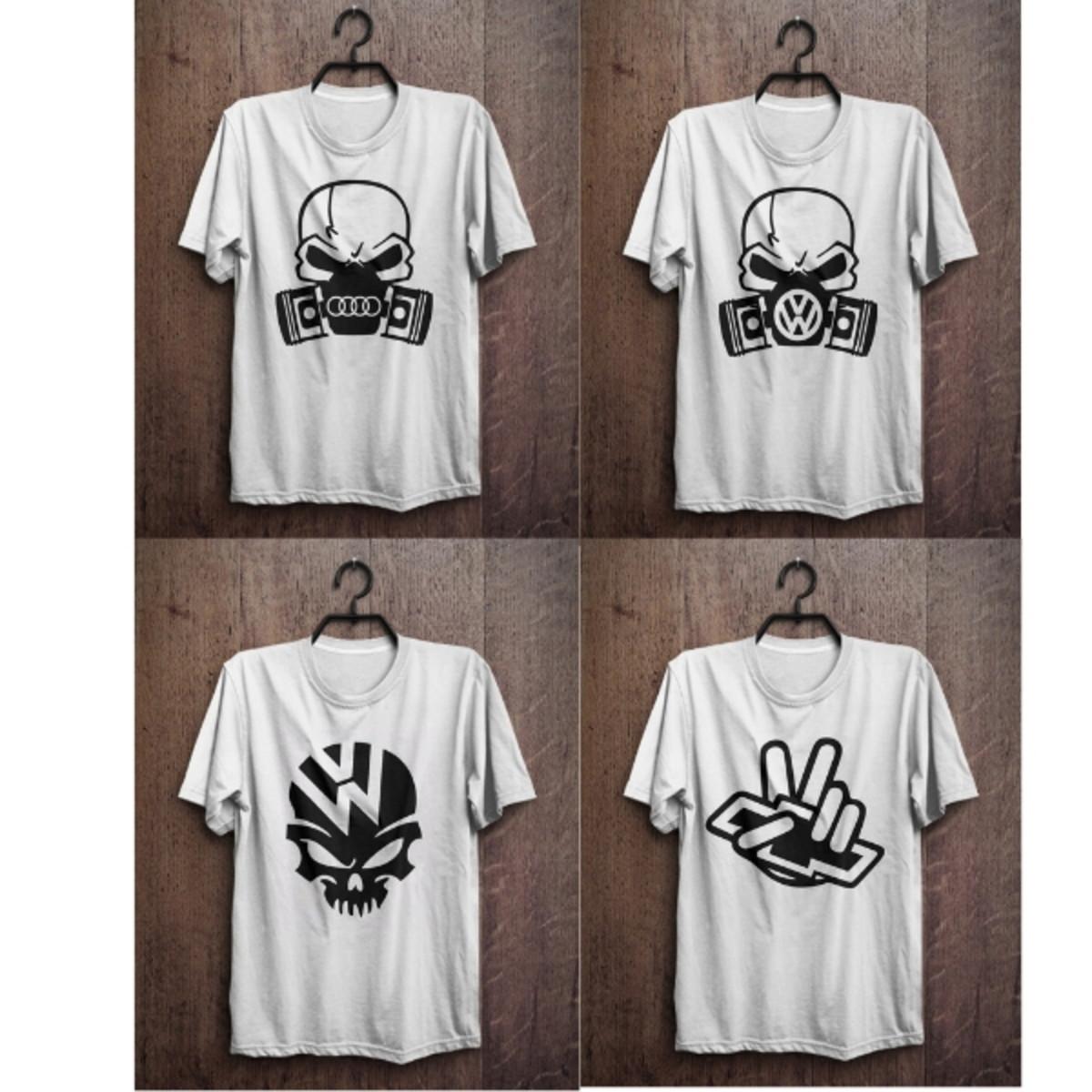 3b8fe43b18107 kit camiseta masculina com marca de carros feita em silk no Elo7 ...