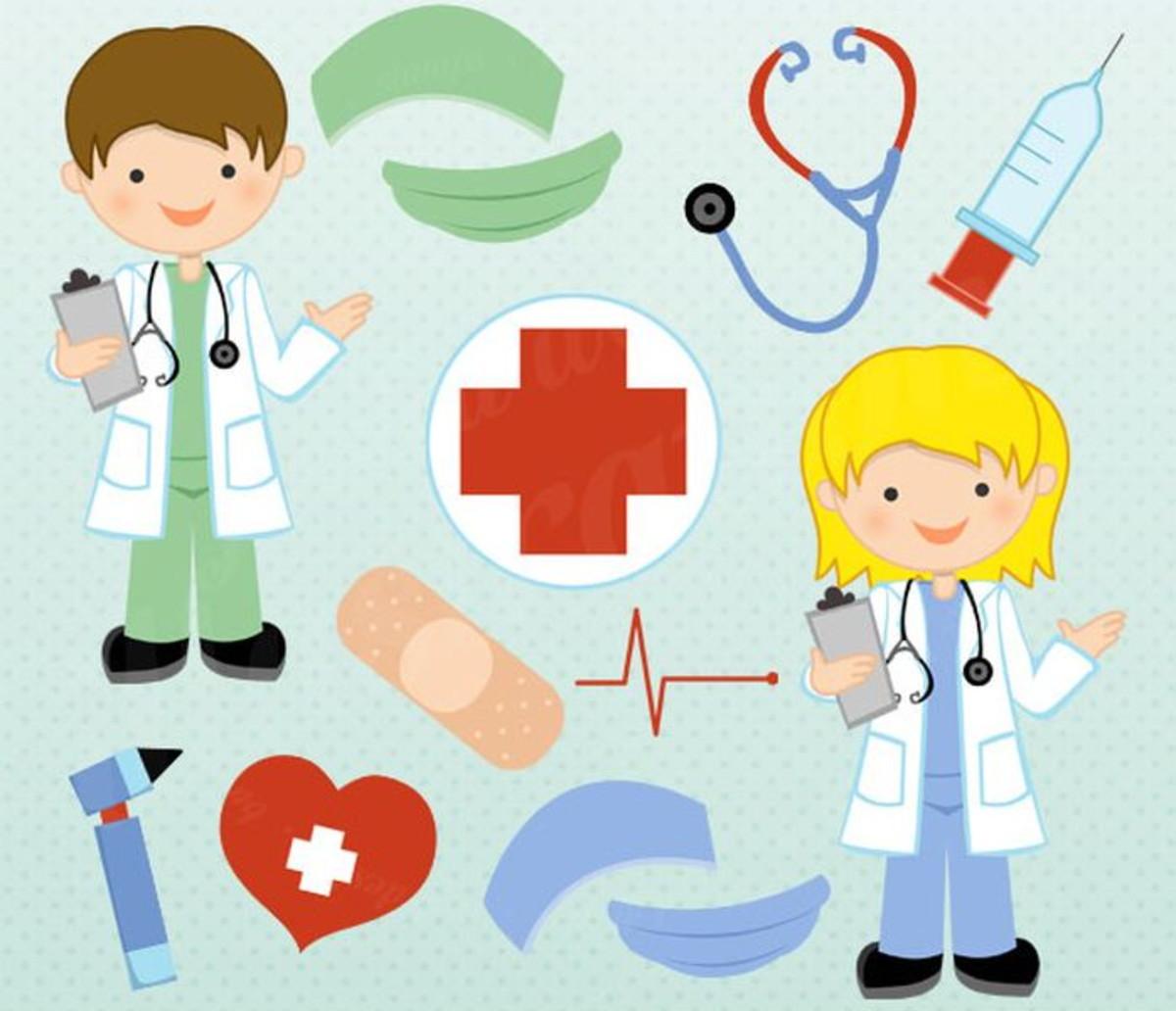 Kit Digital Imagens Médicos Enfermeiros Hospital JW18 no Elo7 | Renata  Fonseca (E658AB)
