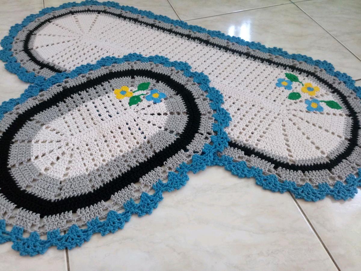 ba856bffb1 Jogo de cozinha em crochê 2 peças no Elo7