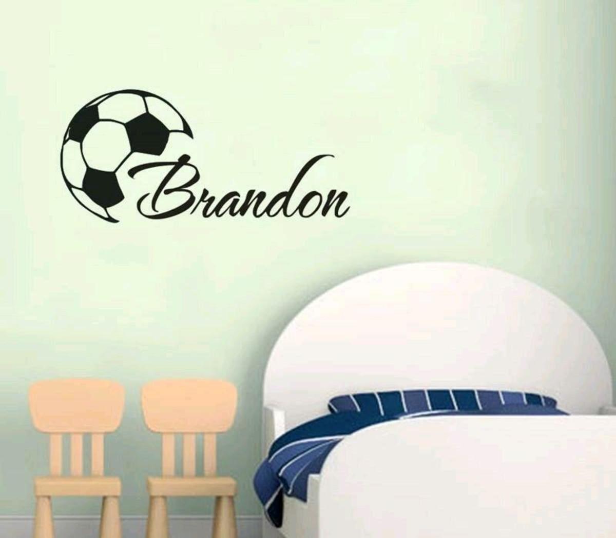 Adesivo Decorativo Bola + Nome Personalizado no Elo7  1f218da9251f7