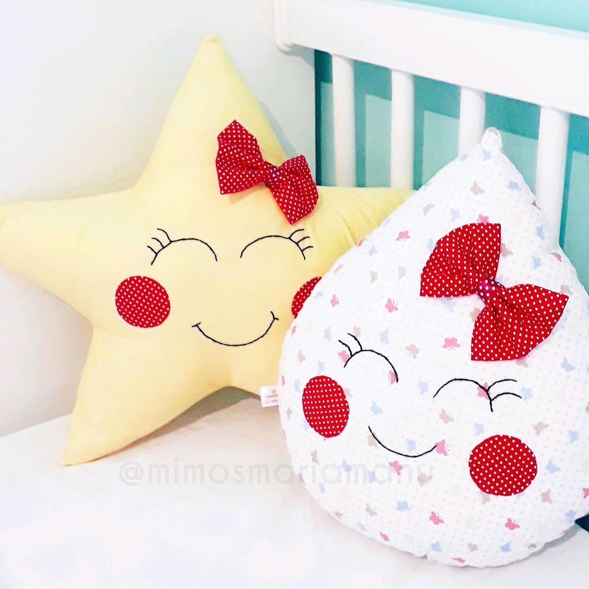5c18c003c Kit 2 almofadas decorativas infantil(estrela e gota) no Elo7