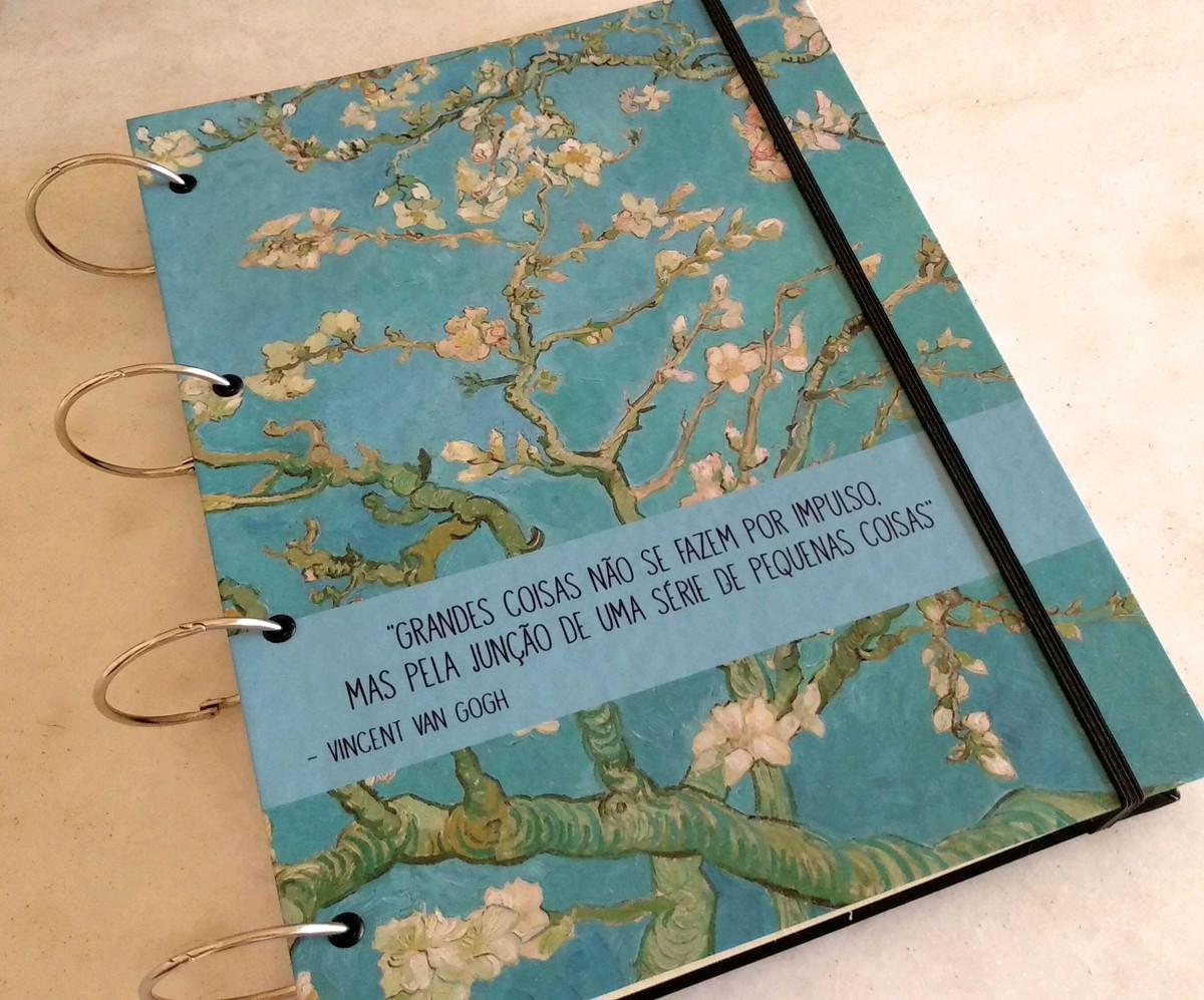 dd93ac4ca Capa de Caderno Argolado Fichário (A4) Van Gogh no Elo7   Charlô ...