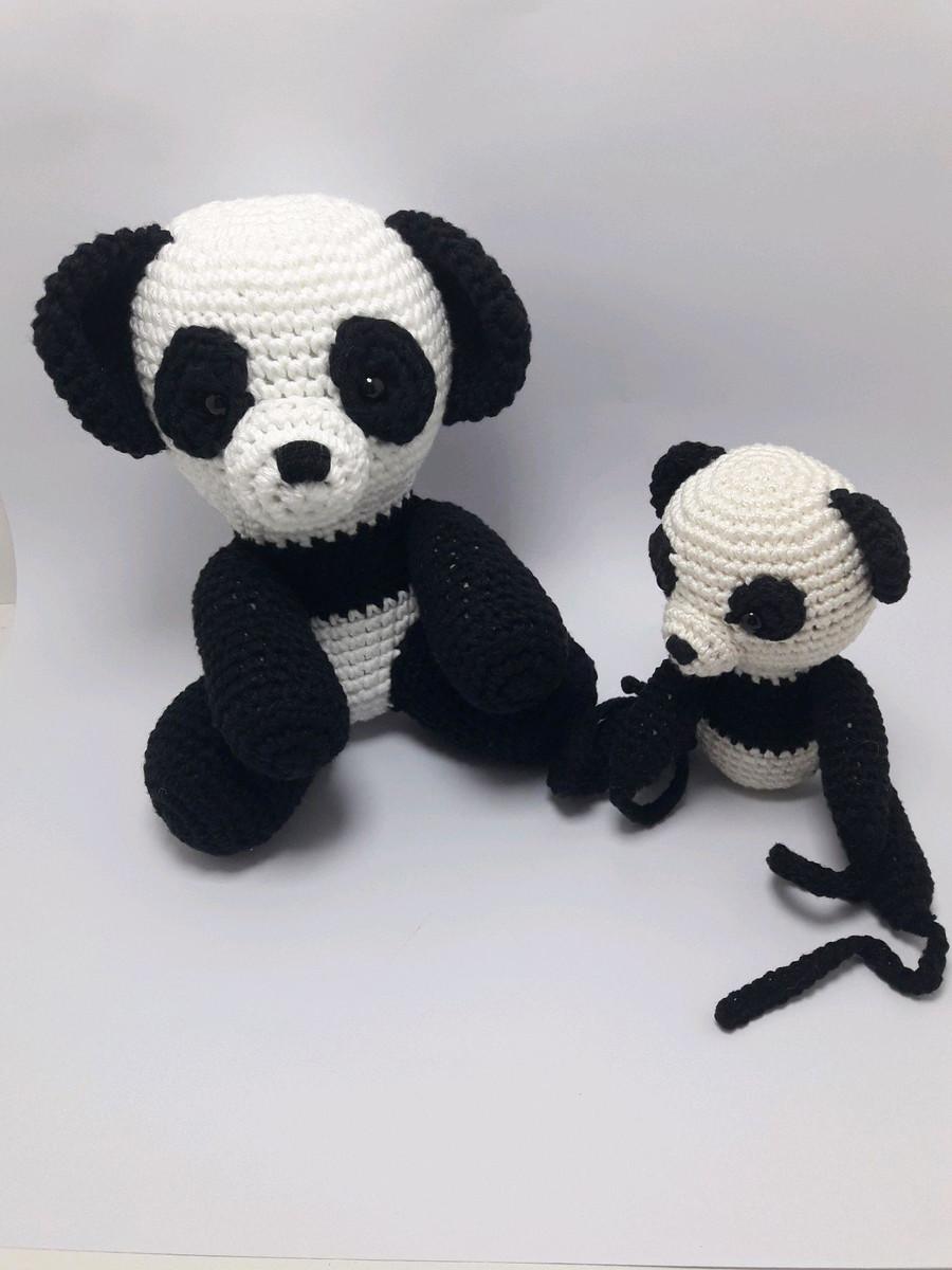 Amigurumi Oso Panda Crochet Algon 100% - $ 500.00 en Mercado Libre | 1200x900