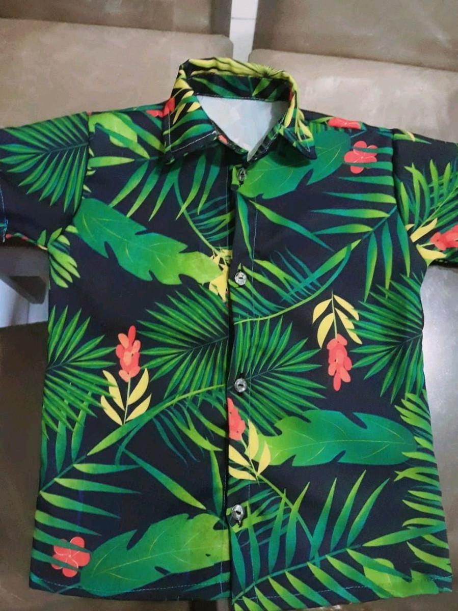 a3cd24ea21 Camisa Infantil Florida Verde no Elo7