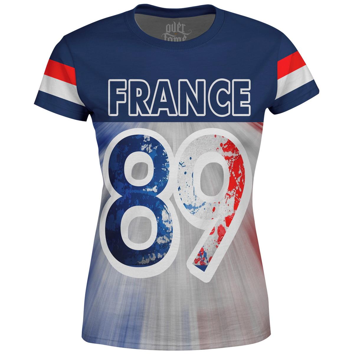 Camiseta Baby Look Feminina França France MD01 no Elo7  918cceca7ba56