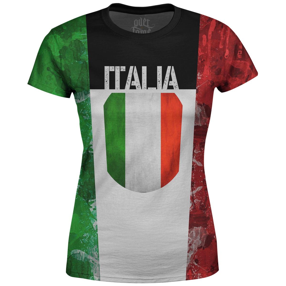 Camiseta Baby Look Feminina Itália MD01 no Elo7  31191dc5fd760