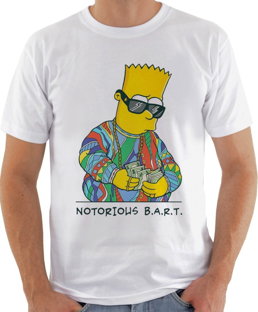 7180aef166a94 Camiseta Camisa Notorious B.A.R.T. Os Simpsons no Elo7