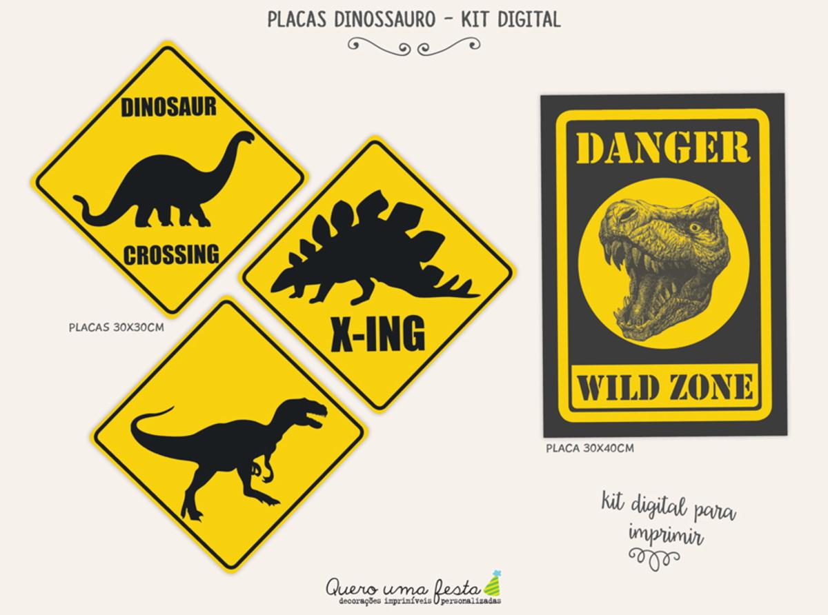 Placas Dinossauro Kit Digital No Elo7 Quero Uma Festa E6cc2a