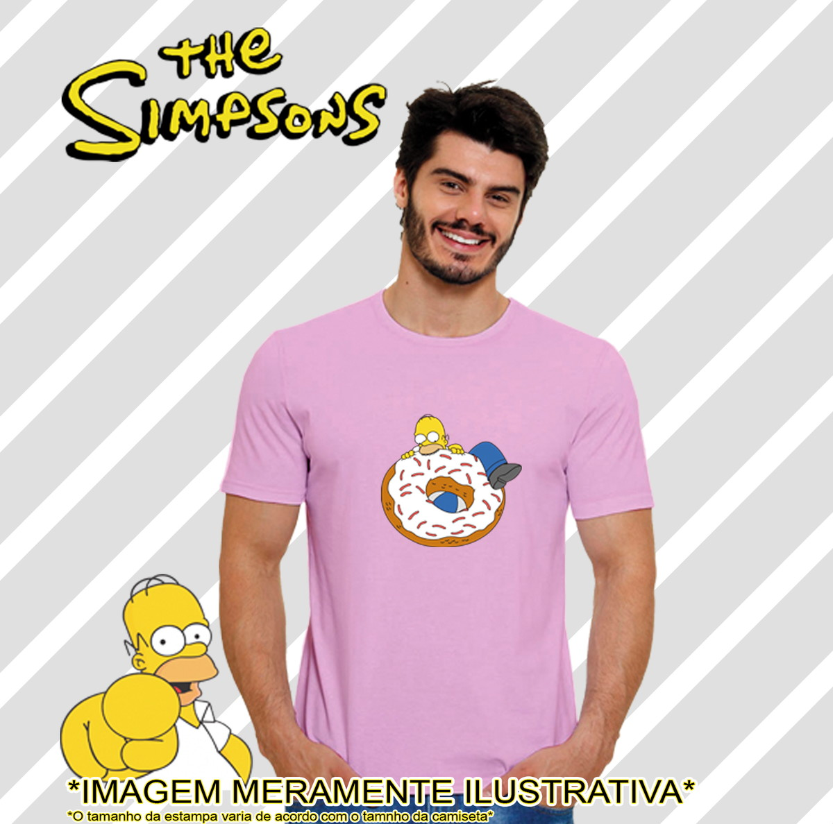 7eef5f38146ba Camiseta Série Os Simpsons Homer rosquinha no Elo7 | Your Style ...